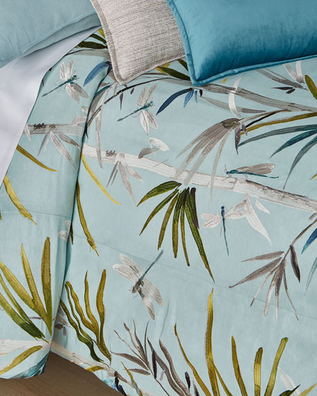 Fino Lino Linen & Lace Tropical Queen Duvet