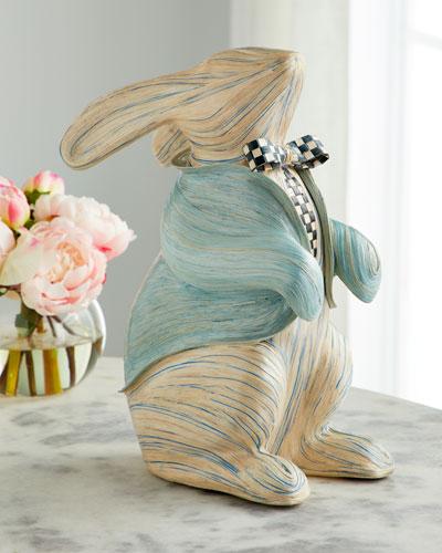 Watercolor Aqua Bunny
