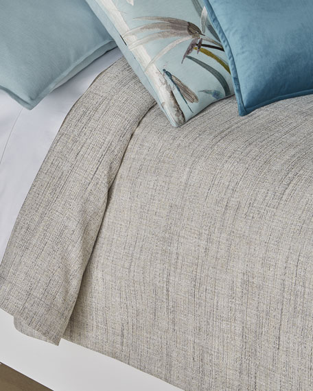 Fino Lino Linen & Lace Birch Queen Coverlet