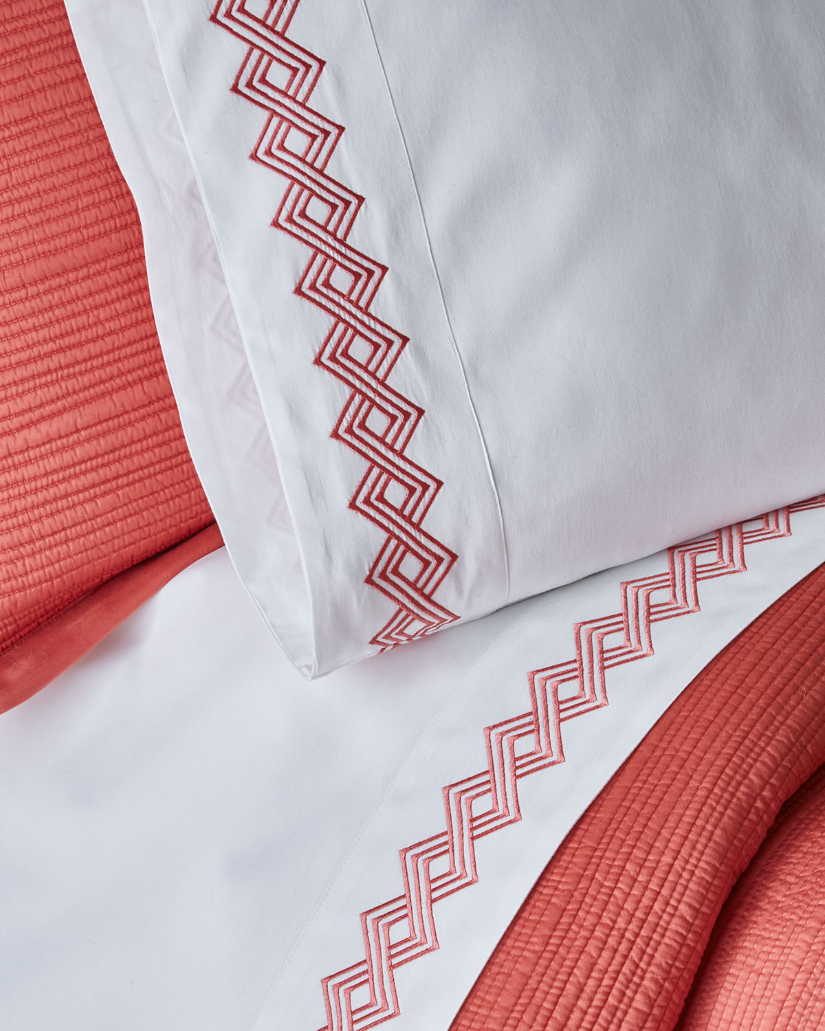 Amity Home Amalfi Standard Embroidered Pillowcases, Pair