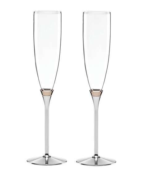 kate spade new york rosy glow toasting champagne flutes set