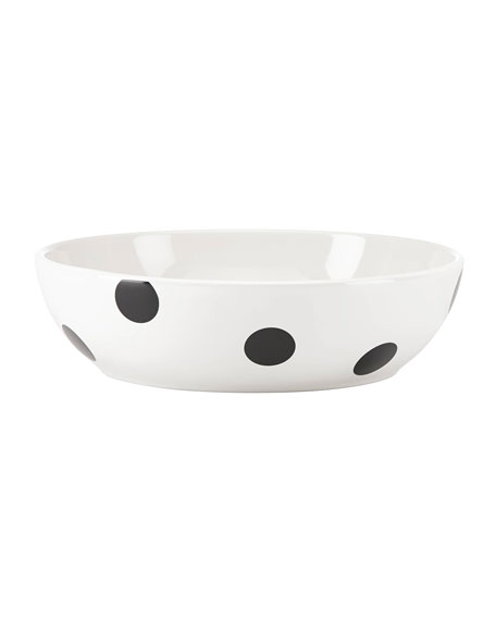 kate spade new york deco dot rimmed soup/pasta bowl