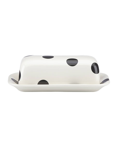 kate spade new york deco dot   covered butter dish
