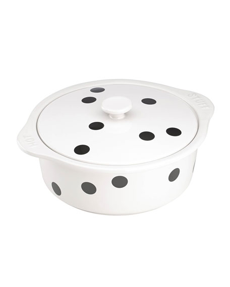 kate spade new york deco dot covered casserole, hot stuff