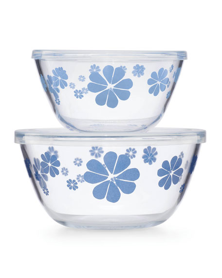 kate spade new york nolita blue serve and store bowls, set of two