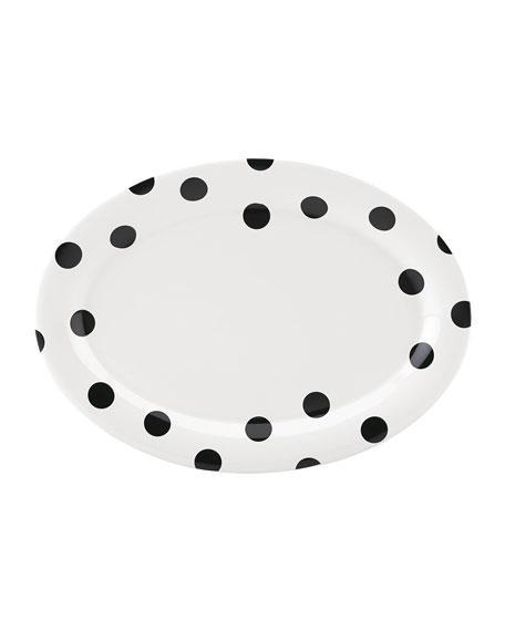kate spade new york deco dot   platter 14.0