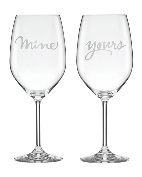 kate spade new york two of a kind mine & yours stemmed red wine glass