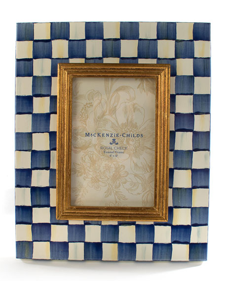 "Image 1 of 2: MacKenzie-Childs Royal Check Frame, 4"" x 6"""
