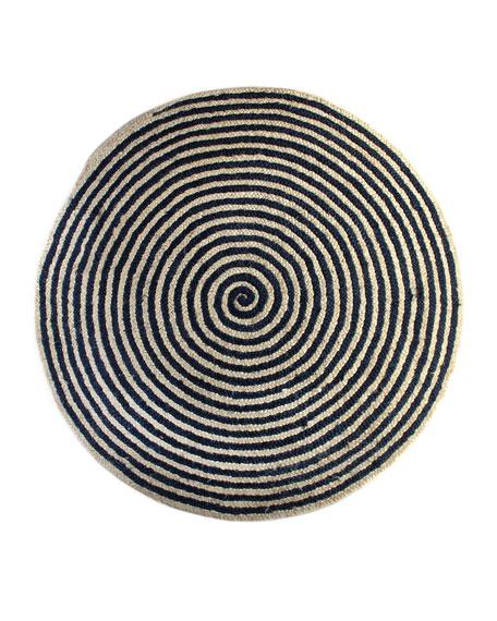 MacKenzie-Childs Spiral Swirl Jute Rug, 6'Dia.