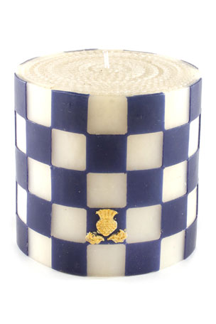 "MacKenzie-Childs Checker 5"" Pillar Candle"