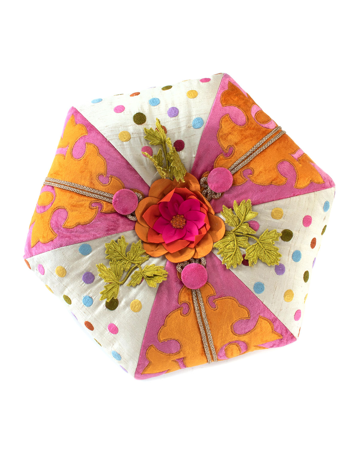 MacKenzie-Childs Super Pink Love Muffin Pillow
