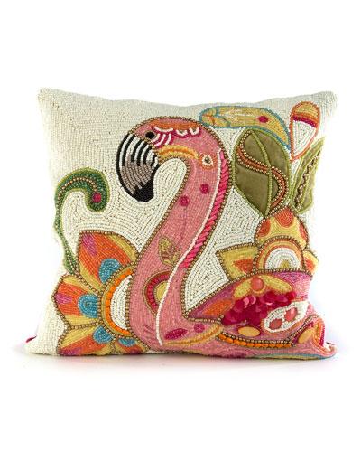 Groovy Flamingo Pillow