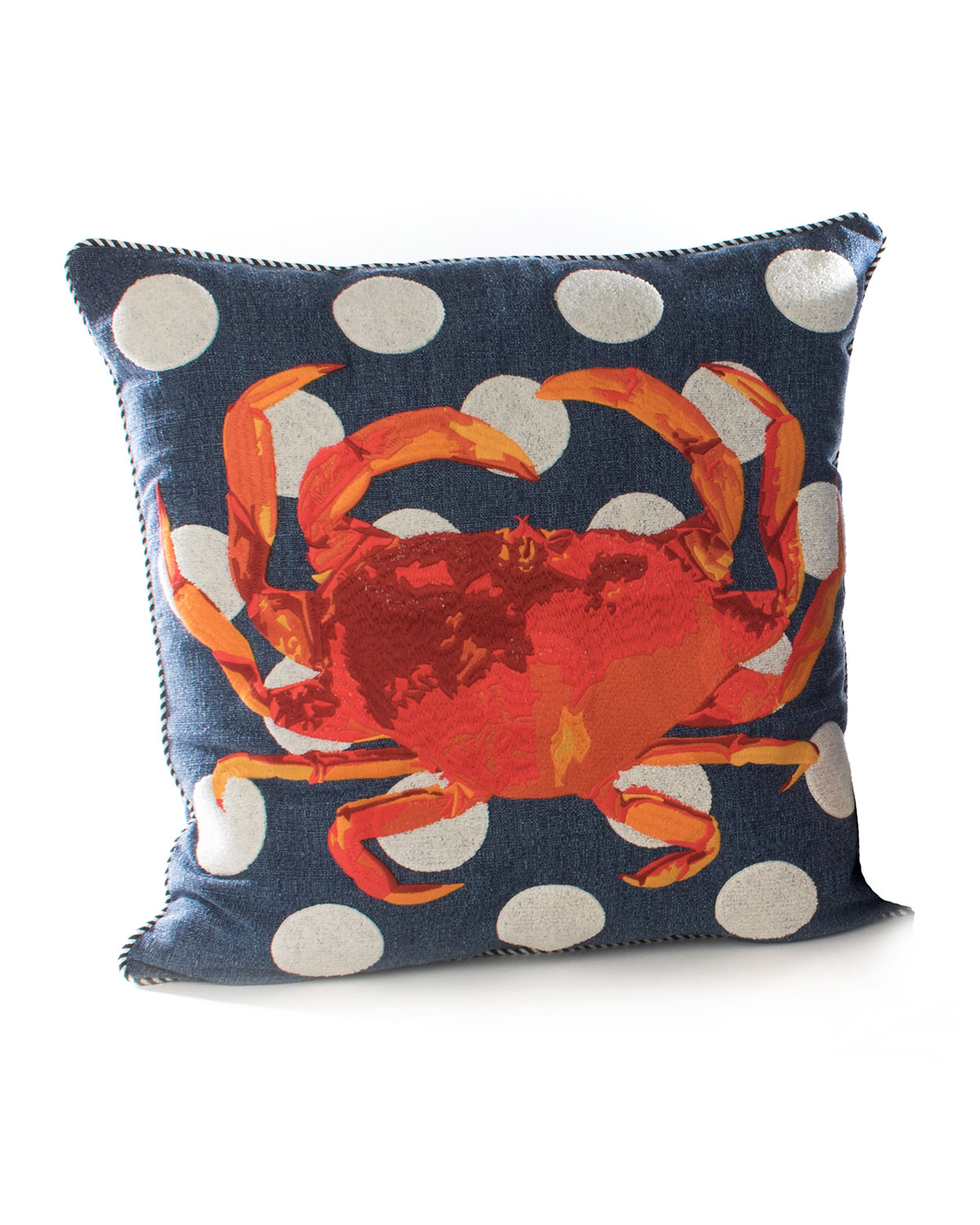 MacKenzie-Childs Crab Outdoor Accent Pillow