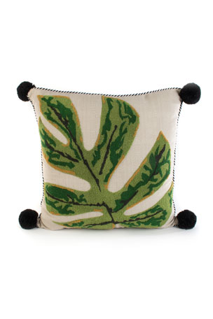 MacKenzie-Childs Zanzibar Leaf Outdoor Accent Pillow