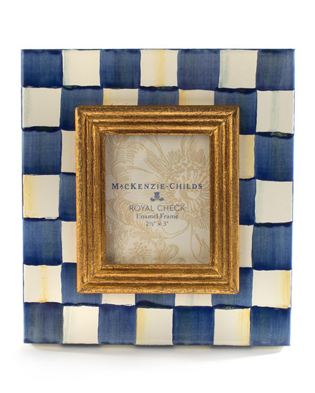 "Image 1 of 2: MacKenzie-Childs Royal Check Frame, 2.5"" x 3"""