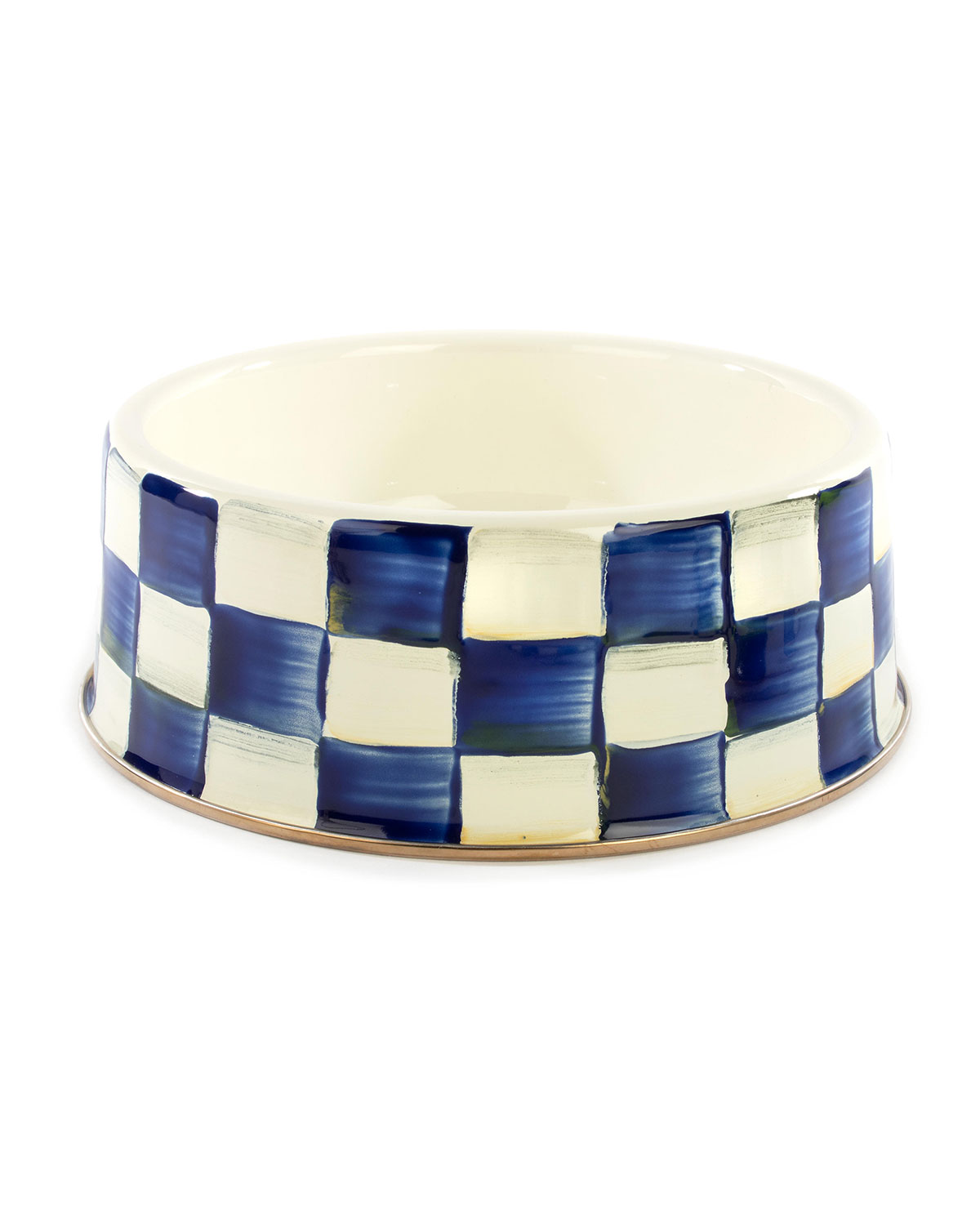 MacKenzie-Childs Royal Check Pet Bowl
