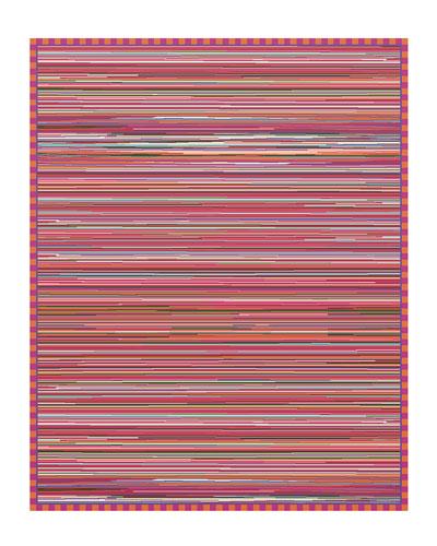 Super Pink Stripe Rug, 8' x 10'