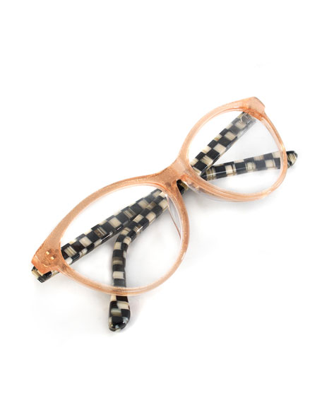 Image 2 of 2: MacKenzie-Childs Rose Gold Leno Readers, +2.00
