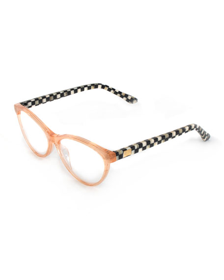 Image 1 of 2: MacKenzie-Childs Rose Gold Leno Readers, +2.00