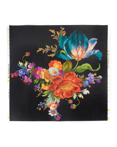 MacKenzie-Childs Flower Market Black Wallpaper