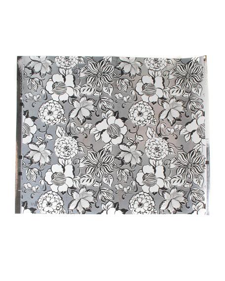 MacKenzie-Childs Avant-Garden Silver Small Wallpaper