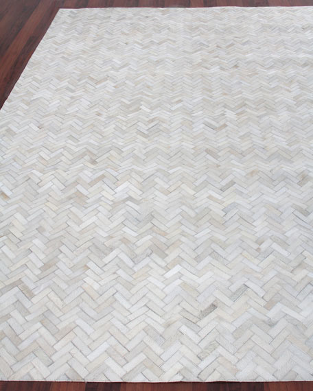 Exquisite Rugs Bregman Hand-Stitched Hair Hide Rug, 8' x 11'