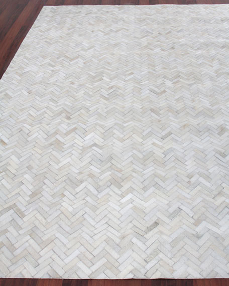 Exquisite Rugs Bregman Hand-Stitched Hair Hide Rug, 12' x 15'