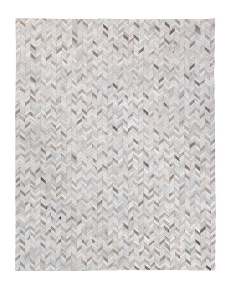 Exquisite Rugs Burket Hand-Stitched Hair Hide Rug, 12' x 15'