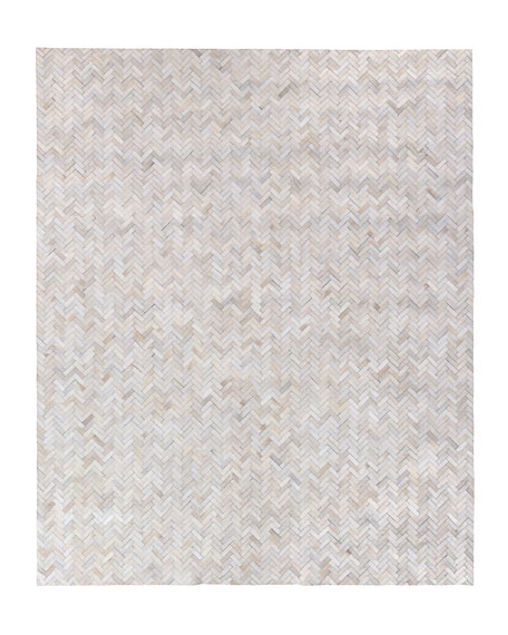 Exquisite Rugs Bregman Hand-Stitched Hair Hide Rug, 5' x 8'