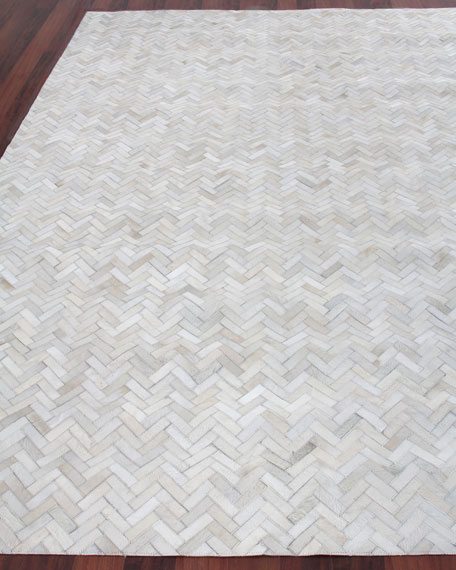Exquisite Rugs Bregman Hand-Stitched Hair Hide Rug, 10' x 14'