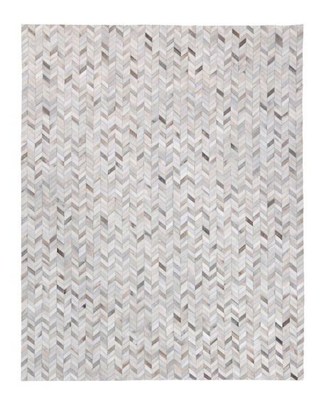 Exquisite Rugs Burket Hand-Stitched Hair Hide Rug, 10' x 14'