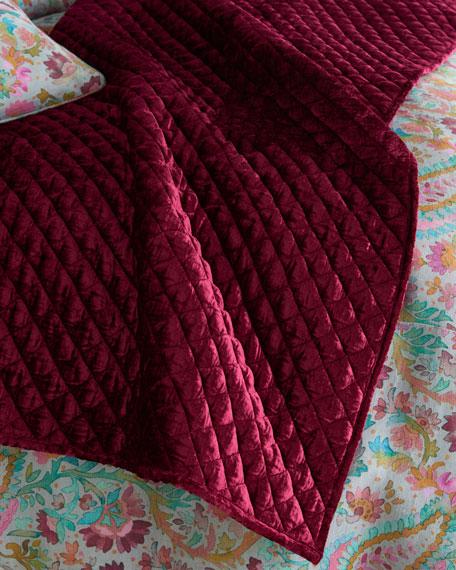 Pine Cone Hill Patina Velvet Throw Blanket