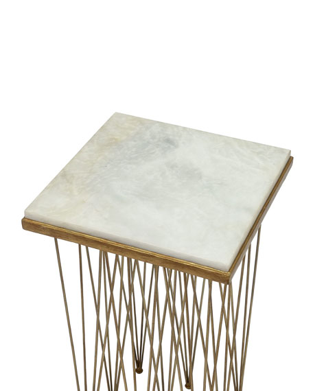 Image 3 of 3: Palecek Naxos Marble Side Table