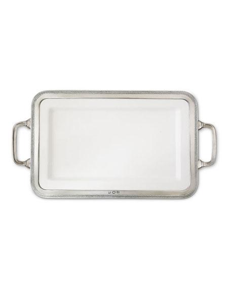 Match Luisa Rectangular Medium Platter with Handles