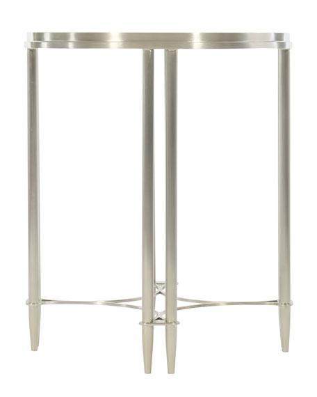 Bernhardt Allure Metal Round Drink Table