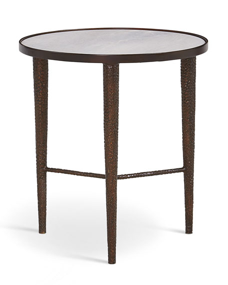 Image 2 of 2: Global Views Hammered Bronze End Table