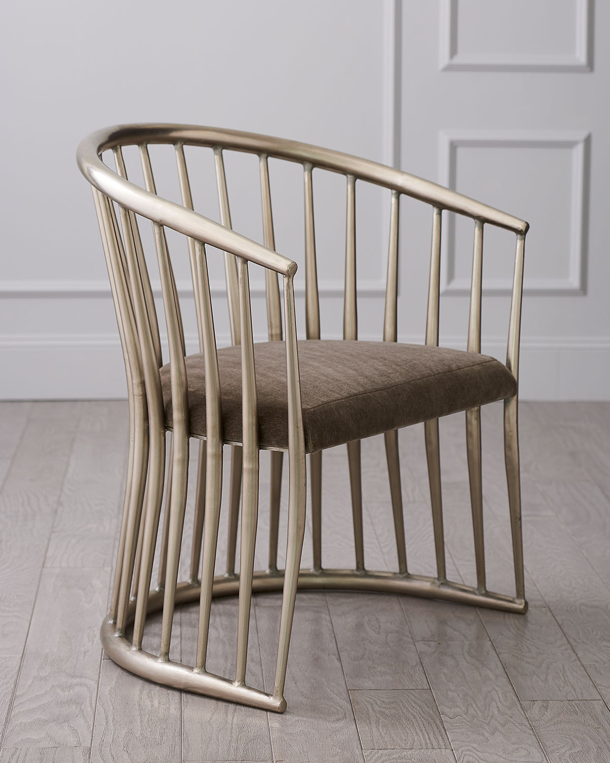 Global Views Nickel Spindle Chair