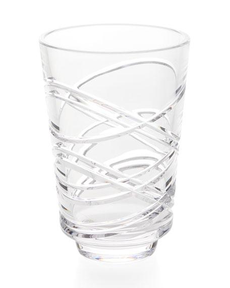 """Waterford Crystal Aran Artisan 8"""" Vase"""