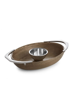 Nambe Cabo Chip and Dip Server