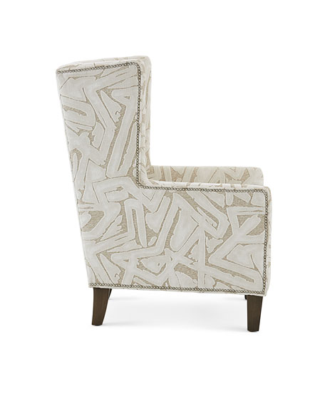 Image 3 of 3: Massoud Pilette Wing Chair