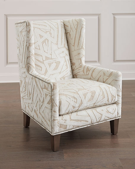 Image 1 of 3: Massoud Pilette Wing Chair
