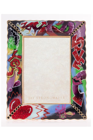 "Jay Strongwater Ruffle Edge Frame, 5"" x 7"""