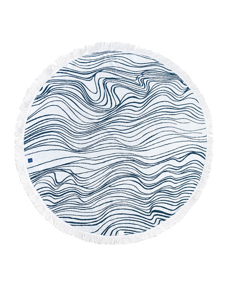 Elyse Maguire The Roundabout Round Beach Towel