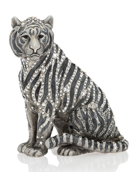 Jay Strongwater Parker Tiger Figurine