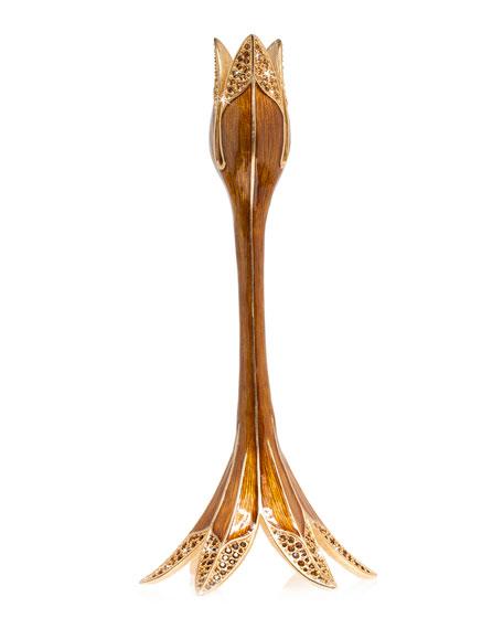 Jay Strongwater Tulip Medium Candlestick Holder
