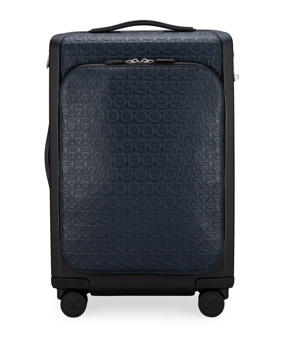 Salvatore Ferragamo Men's Gancio Leather Spinner Luggage