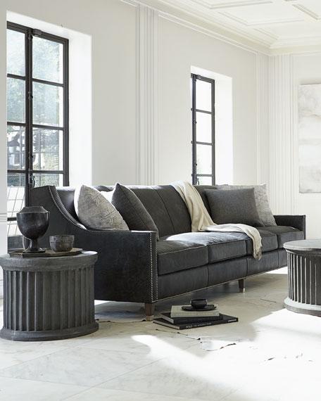 "Bernhardt Palisades Leather Sofa, 108"""