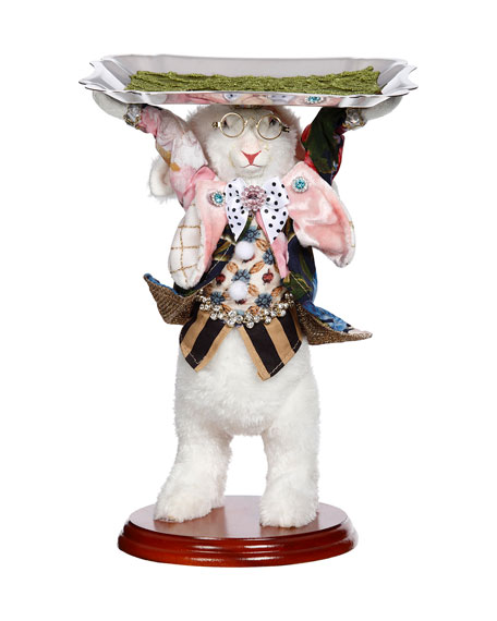 """Mark Roberts Server Rabbit with Tray Collectible - 10"""""""