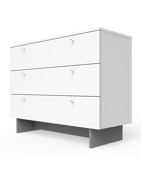 "Image 2 of 2: Spot On Square Roh 45"" Dresser, White"
