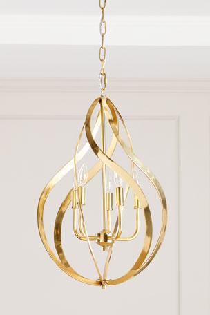 John-Richard Collection Ribbons of Brass Swirls Pendant